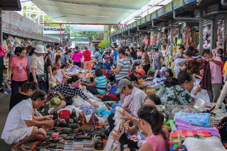 Chaos at the Con Market, Da Nang, Vietnam