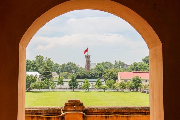 Iconic Flag Tower at Citadel in Hanoi, Vietnam