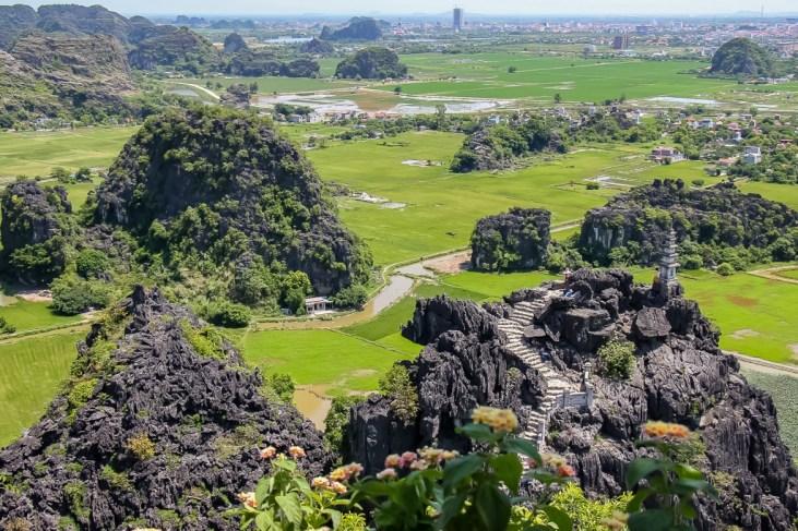 Rice Paddy Fields from Hang Mua hike in Ninh Binh, Vietnam