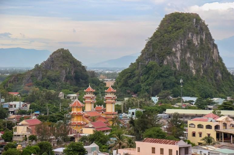 Views over Marble Mountain, Da Nang, Vietnam