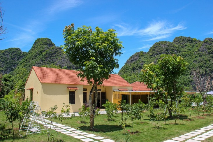 Accomidation at Pool at Trang An Retreat, Ninh Binh Province, Vietnam