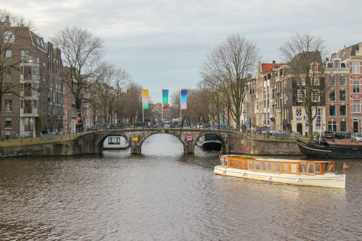 Canal Cruise Boat, Amstel River, Amsterdam, Netherlands