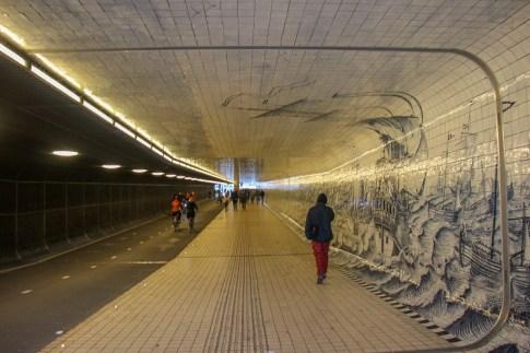 Pedestrian Passageway, Centraal, Amsterdam, Netherlands