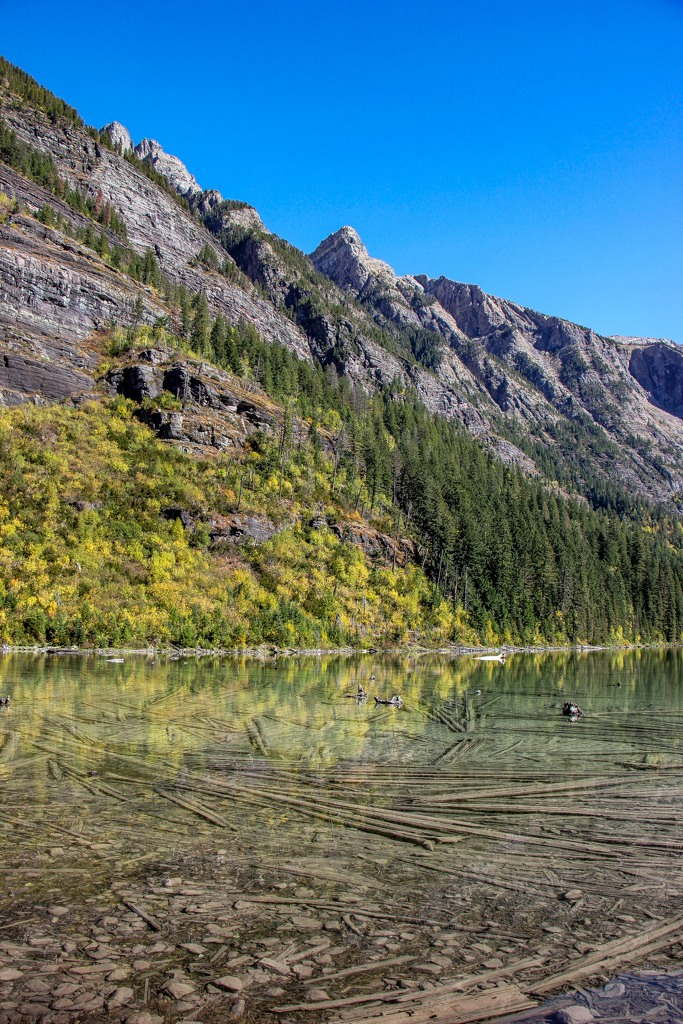 Reflection in Avalanche Lake, Glacier NP, Montana