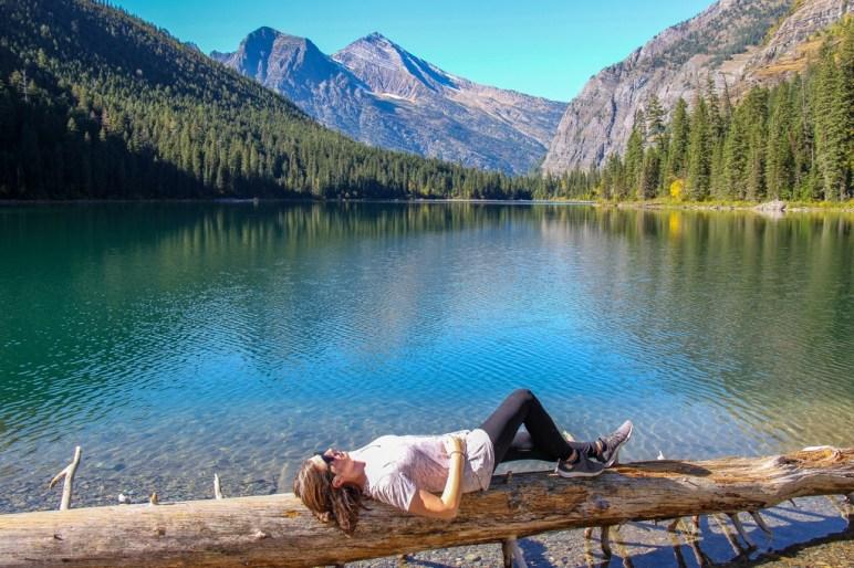 Instagram Avalanche Lake Posing, Glacier National Park, Montana