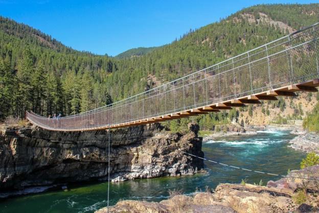 View across Kootenai Swing Bridge, Montana Road Trip