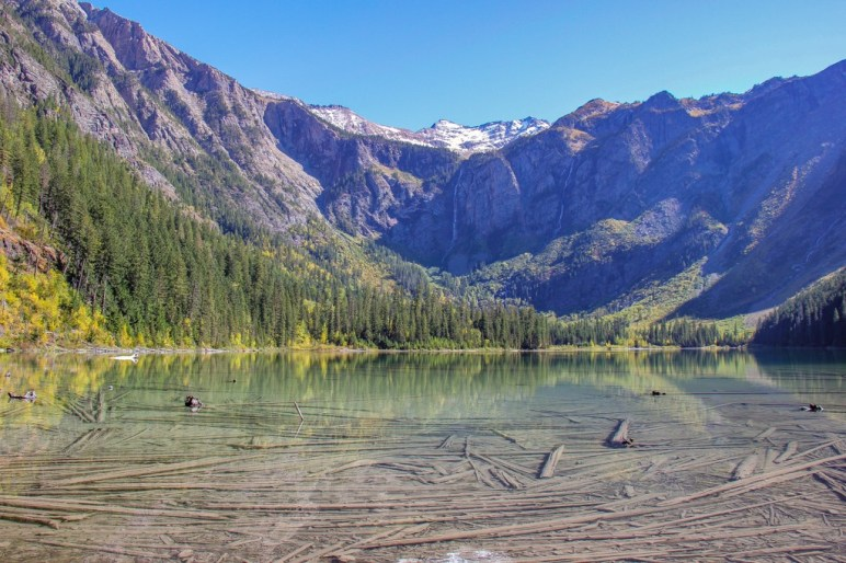 The WelcomeView of Avalanche Lake Glacier National Park, Montana