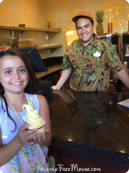 First Dole Whip at the Pineapple Lanai