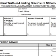 Truth in Lending