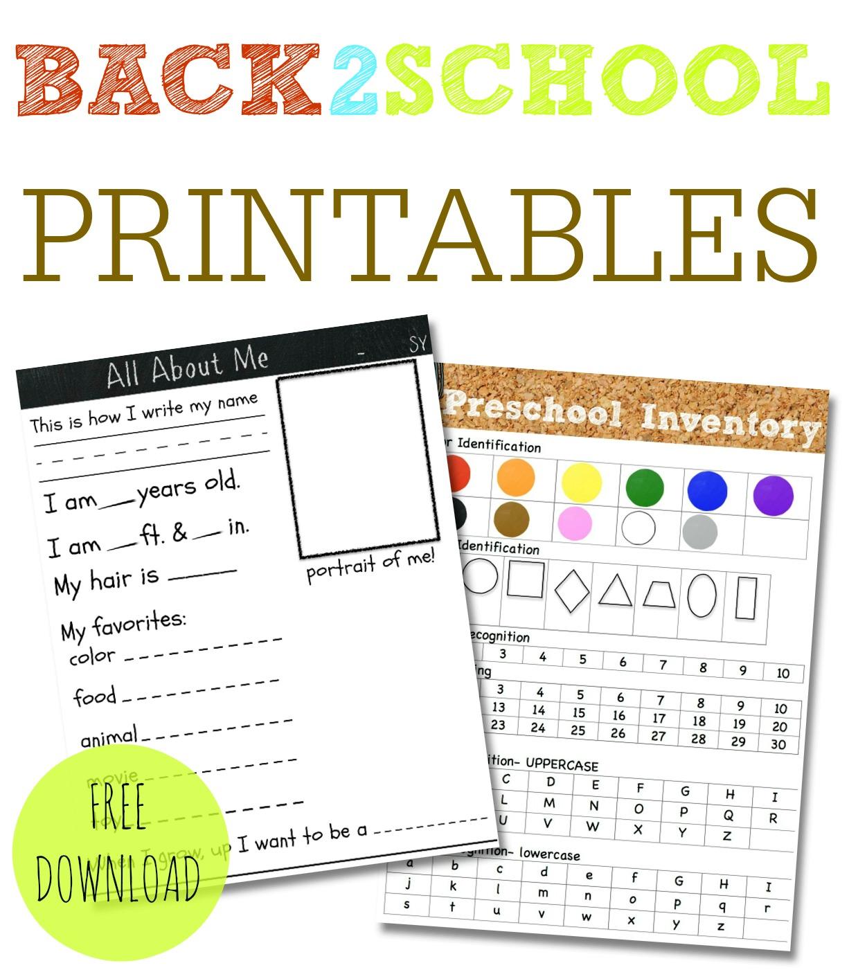 Ready For Preschool With Disney Junior Printable