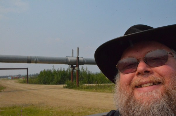To get to the visitor's center you need to drive under the pipeline. This is the only place you'll do that.