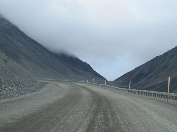 Atigun Pass heading north and up