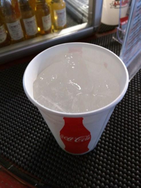Glacier Ice in my soda water.