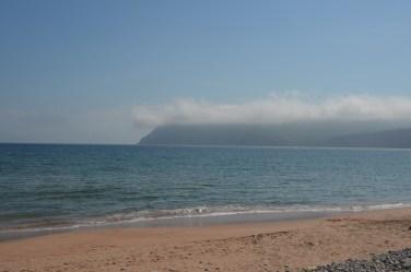 East side beach, fog is lifting.