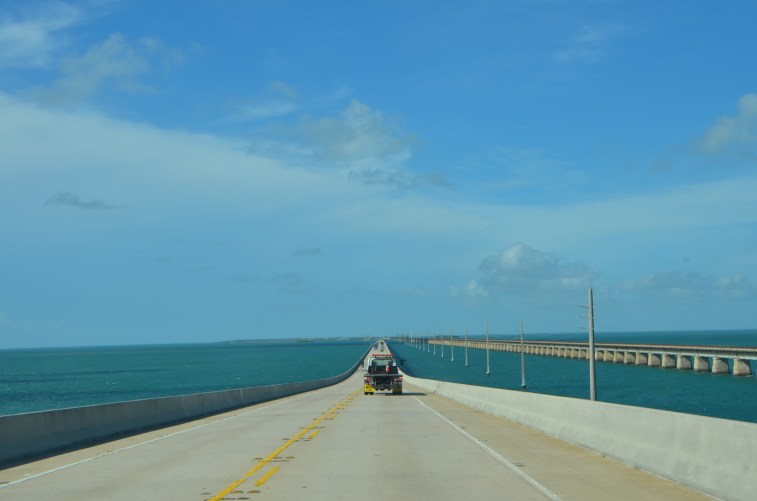 """Scenic """"Overseas Highway"""", two lanes and low speed limits for most of it."""