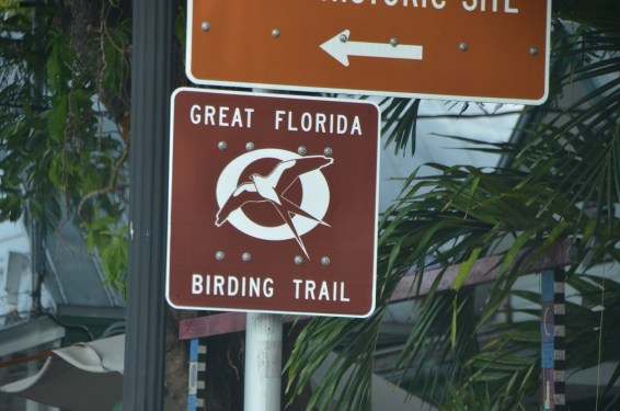 These signs are part of a project to lead bird watchers to easy to miss opportunities.