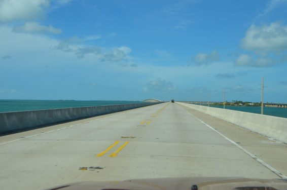 The highway. Note that the other set of piers is old and not in service.