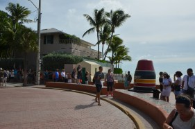 The southernmost point buoy. Quite a line here.