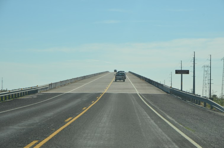 """""""High Island Bridge"""" - As we approach the Gulf Coast the highway crosses over the intracoastal waterway onto """"High Island"""""""