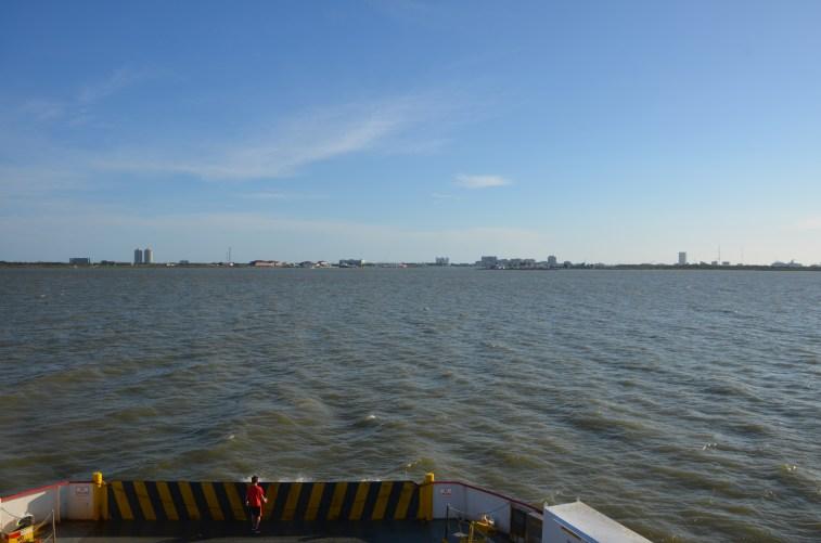 Looking towards Galveston