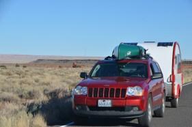 Wupatki Pueblo from a distance.