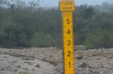 Close up of a Flood Gauge