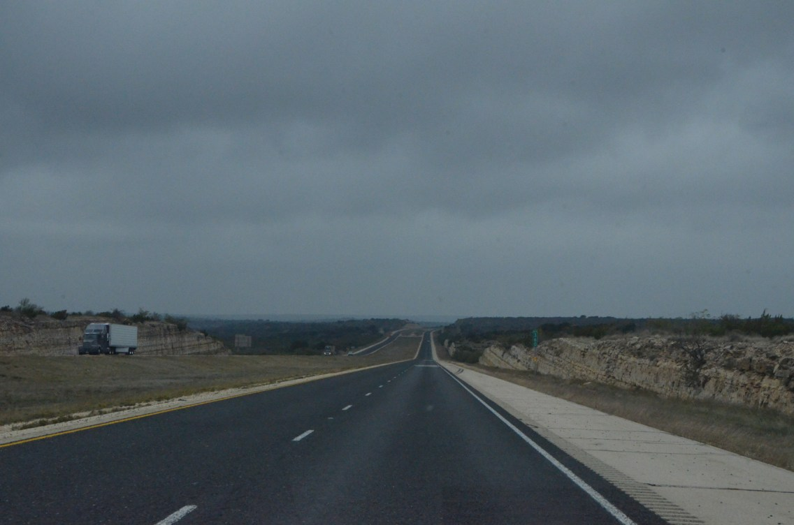 Back on the wide interstate.