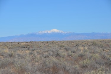 First snow-capped peak I had seen in months. The only one around here, even though it was November. I believe this is Sierra Blanca Peak.