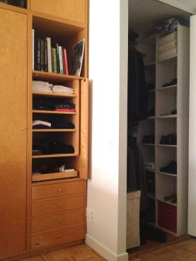 A corner of the wall unit and one of my closets.