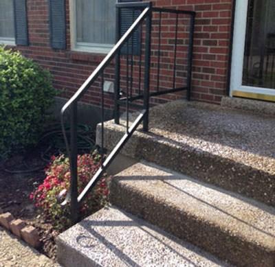 Concrete Porches Railings 502 Construction Concrete | Railing For Concrete Porch | Residential | Paver Patio | Hand | Flagstone Porch | Repair
