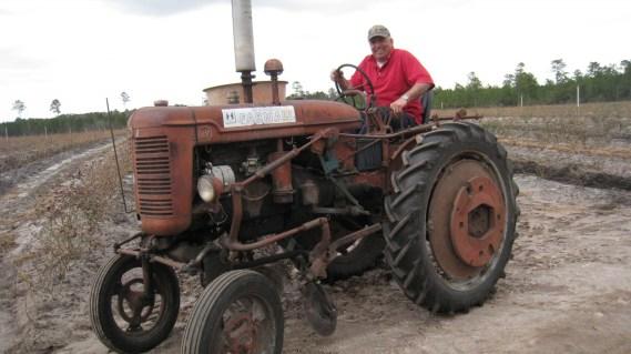 Bill on his circa 1950s tractor