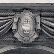 Detail; Red Hand of Ulster; Belfast