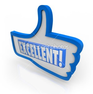Excellent review depositphotos_16977375-Excellent-Feedback-Thumbs-Up-Review-Like-Approval