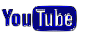 The YouTube logo shown in stylish bright blue colors.