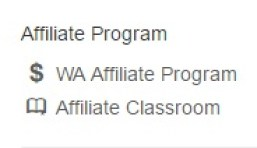 The Affiliate program divided into WA affiliate program and affiliate classroom