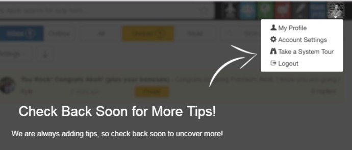 The Check back soon for more tips icon