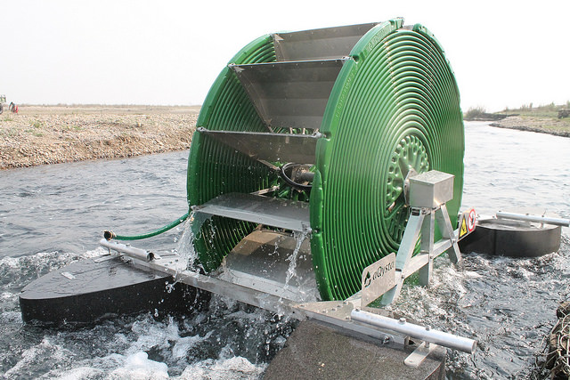 Hydro-powered irrigation