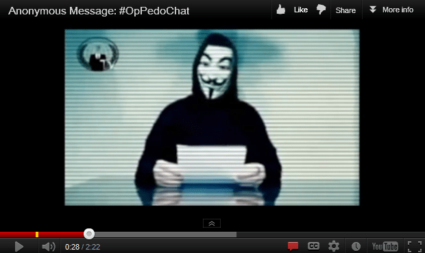 Anonymous #OpPedoChat pros and cons of a noble battle - Security