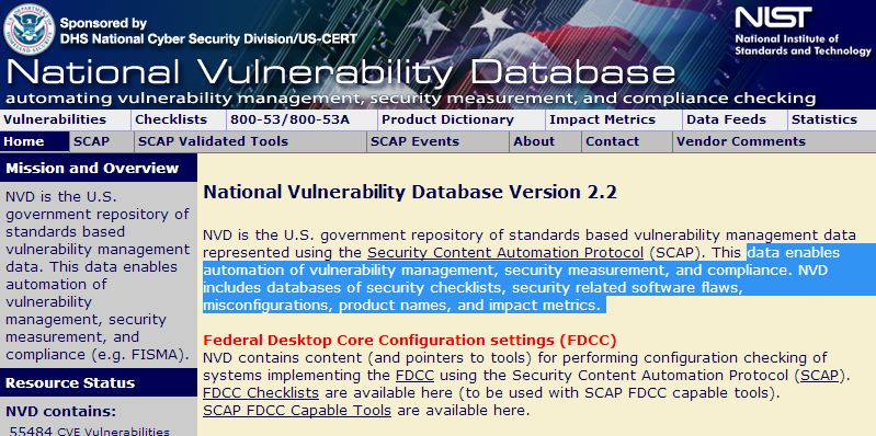 NIST - National Vulnerability Database website hacked - Security