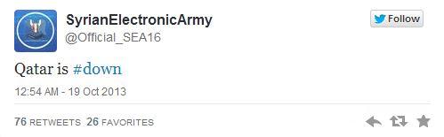 Syrian Electronic Army Qatar is down
