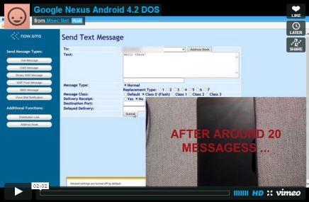 Google Nexus Dos Flaw2