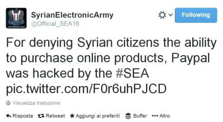 Syrian Electronic Army 1 Tweet