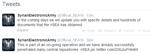 CENTCOM Syrian Electronic Army Twitter US Military 1