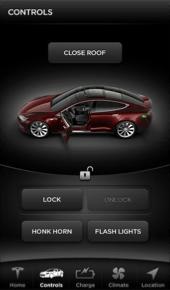 tesla smart car app