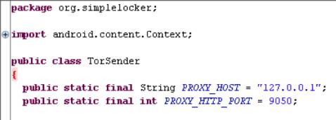 Android Simplocker Malware Tor