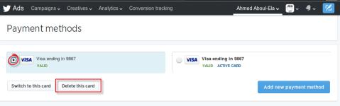 twitter payment methods