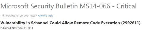 Microsoft Security Bulletin MS14-066 - Critical
