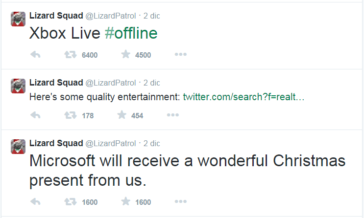 Xbox Live service brought down by a DDoS attack